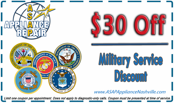 $30 Off Military Service Coupon